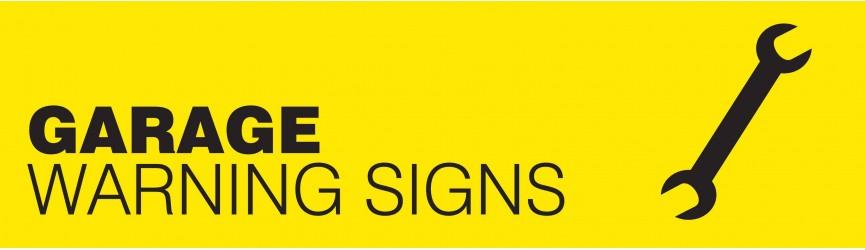 Garage Warning Signs