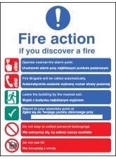 Fire Action Auto Dial with Lift (English/polish)