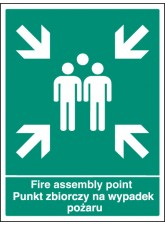 Fire Assembly Point (English/polish)