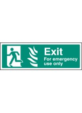 HTM Exit for Emergency use Only - Left