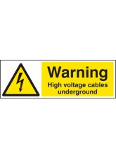 Warning High Voltage Cables Underground