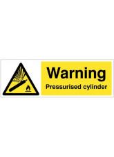 Warning Pressurised cylinder