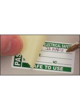 Roll of 100 PAT Test Write & Seal Labels - Passed - 50 x 25mm