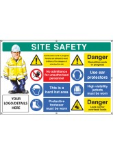 Site Safety - Multi-message - Demolition Work - Custom - Banner with Eyelets - 1270 x 810mm