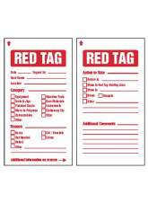 6S Red Tags c/w cable ties (pack of 10)