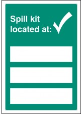 Spill Kit Located At - Adapt-a-Sign