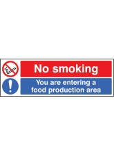No Smoking You Are Entering a Food Production Area