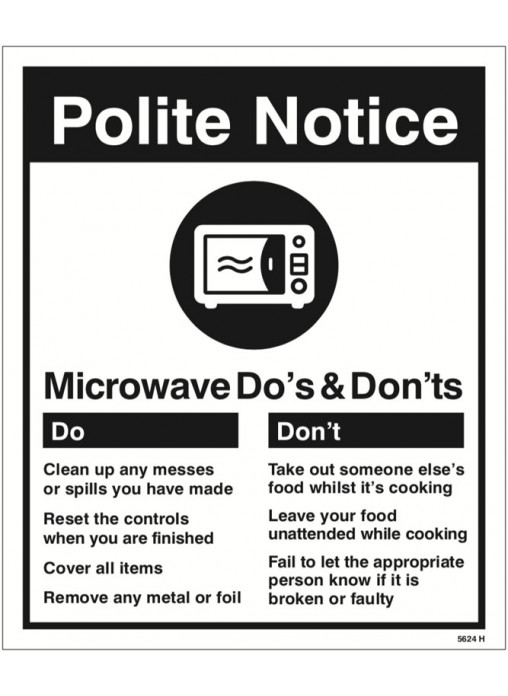 Microwave Do S Amp Don Ts Safety Signs Ppe Equipment