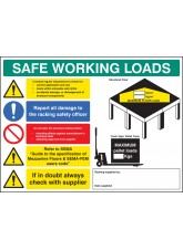 SWL Mezzanine Floor Sign - 5mm FoamEx- 600 x 450mm