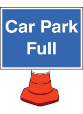 Car Park Full Cone Sign - 600 x 450mm