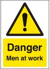A4 Danger Men At Work