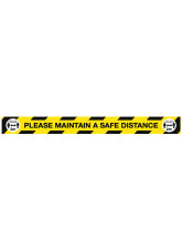 Maintain a Safe Distance Floor Graphic