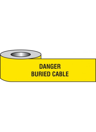 Danger Buried Cable Underground Tape