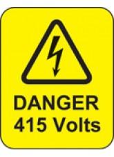 Danger 415 Volts Labels