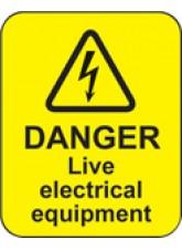 Danger Live Electrical Equipment Labels