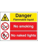Danger Flammable Liquid No Smoking No Naked Lights