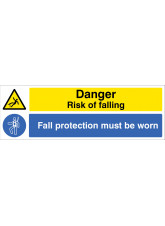 Danger - Risk of Falling - Fall protection must be worn