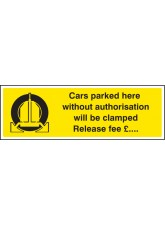 Cars Parked Clamped - (Insert Release Fee)