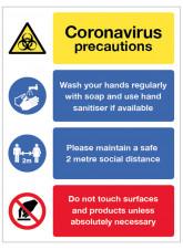 Coronavirus Precautions Multi-Message