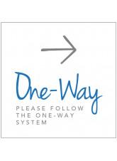 One Way - Arrow Right - Floor Graphic